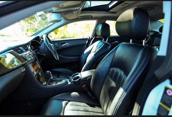 leather interior corporate limo